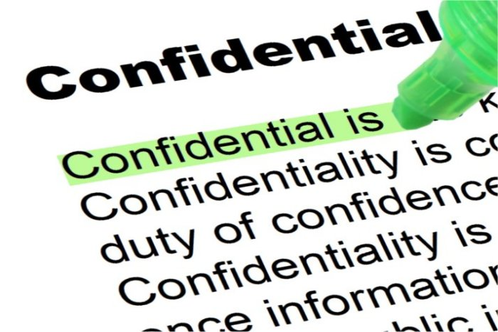 Confidential - Highlighted Words and Phrases