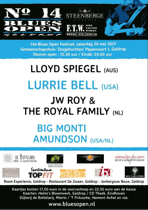 blues open affiche