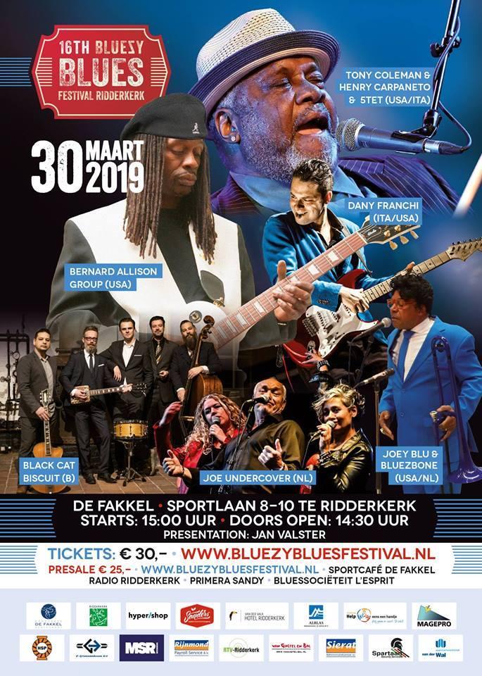 bluezy blues ridderkerk 2019 poster programma