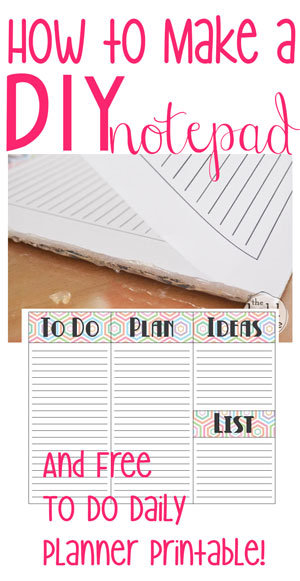 How to Make a DIY Notepad {and free planner page printablecuz we
