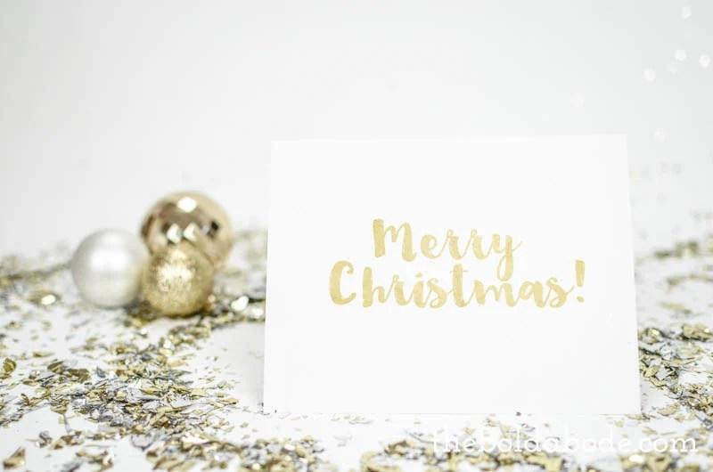 Gold Foil\ - christmas card printable