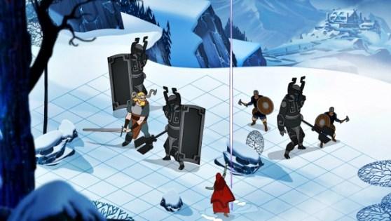 Turn based combat akin to that of Final Fantasy Tactics.