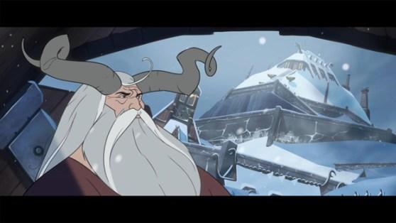 Scene from Banner Saga Factions.