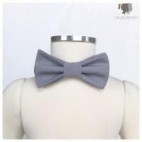 Grey Cotton Bow Tie
