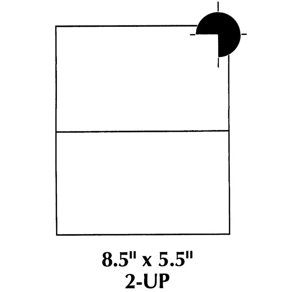 85x55\u0027\u0027 Shipping Labels - 2 Labels Per Page - 200 Shipping Labels