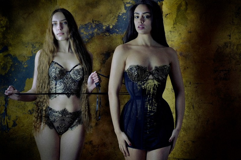 Karolina Laskowska Lingerie, photography by Jenni Hampshire - cassiopeia klimt colour