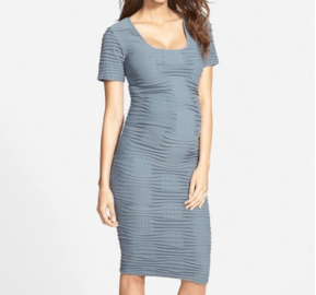 Tees by Tina Crosshatch Maternity Dress