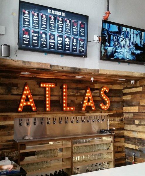 Atlas Cider bar taps
