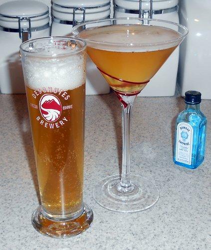 Big Wave Golden Ale and Elderfire Golden Ale cocktail