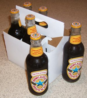 Newcastle Brown Ale marketing 6 pack