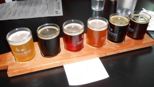 Breakside Brewery tasters