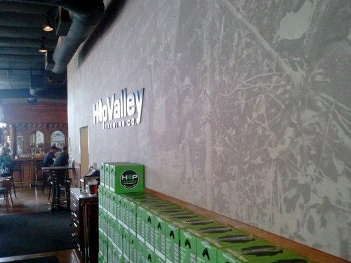 Hop Valley Brewing wall