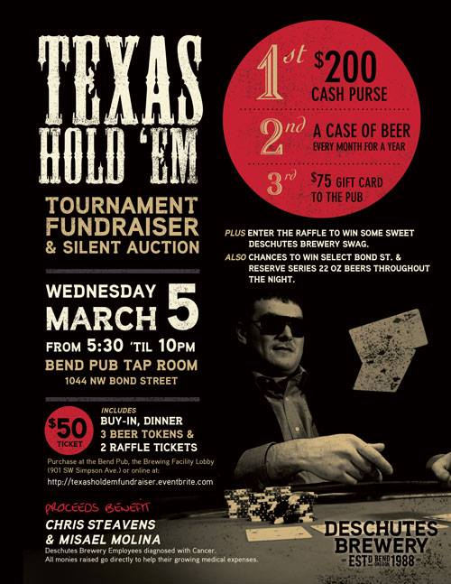 Deschutes Texas Hold'em Tournament Fundraiser