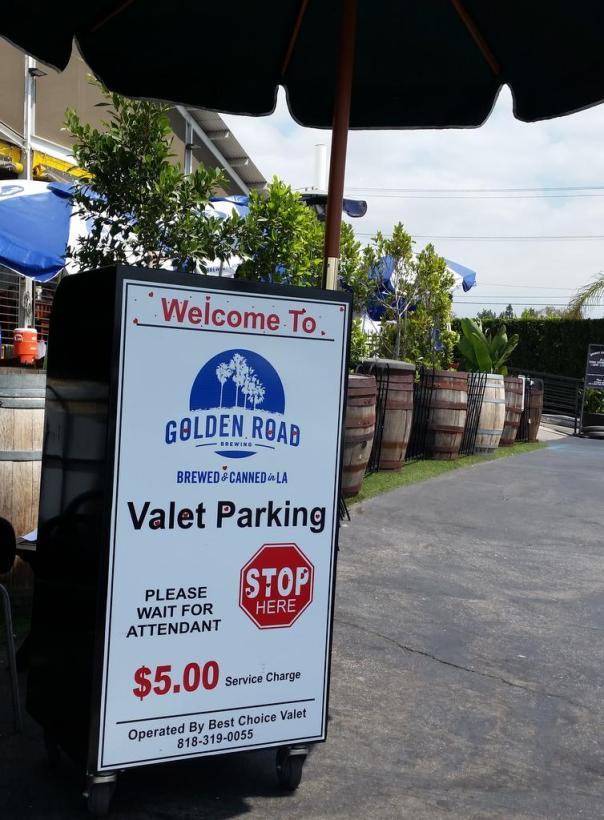 Golden Road Brewing valet parking