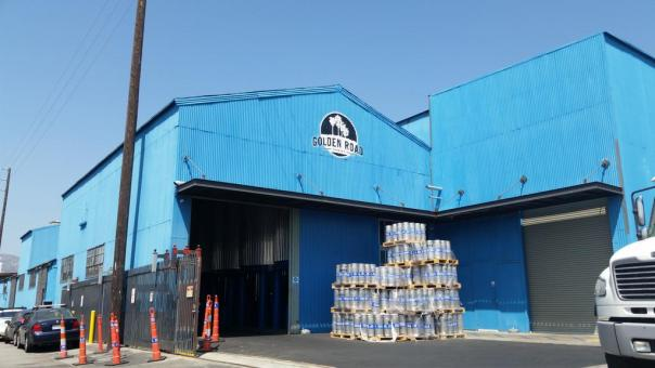 Golden Road Brewing blue warehouse