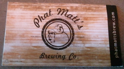 Phat Matt's Brewing business card