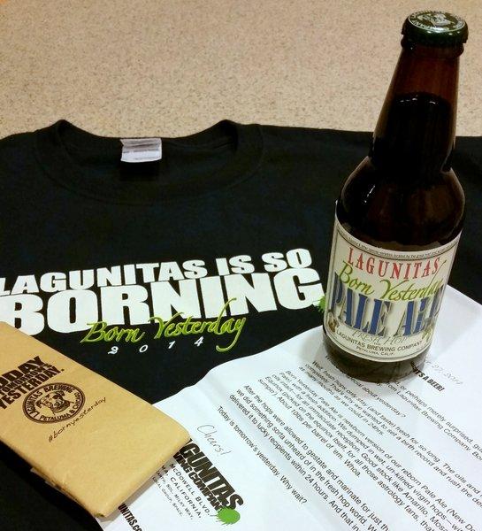 Lagunitas Born Yesterday PR package