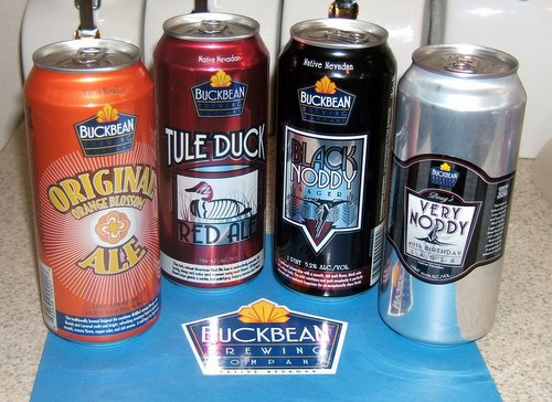 Buckbean Brewing Company canned beers