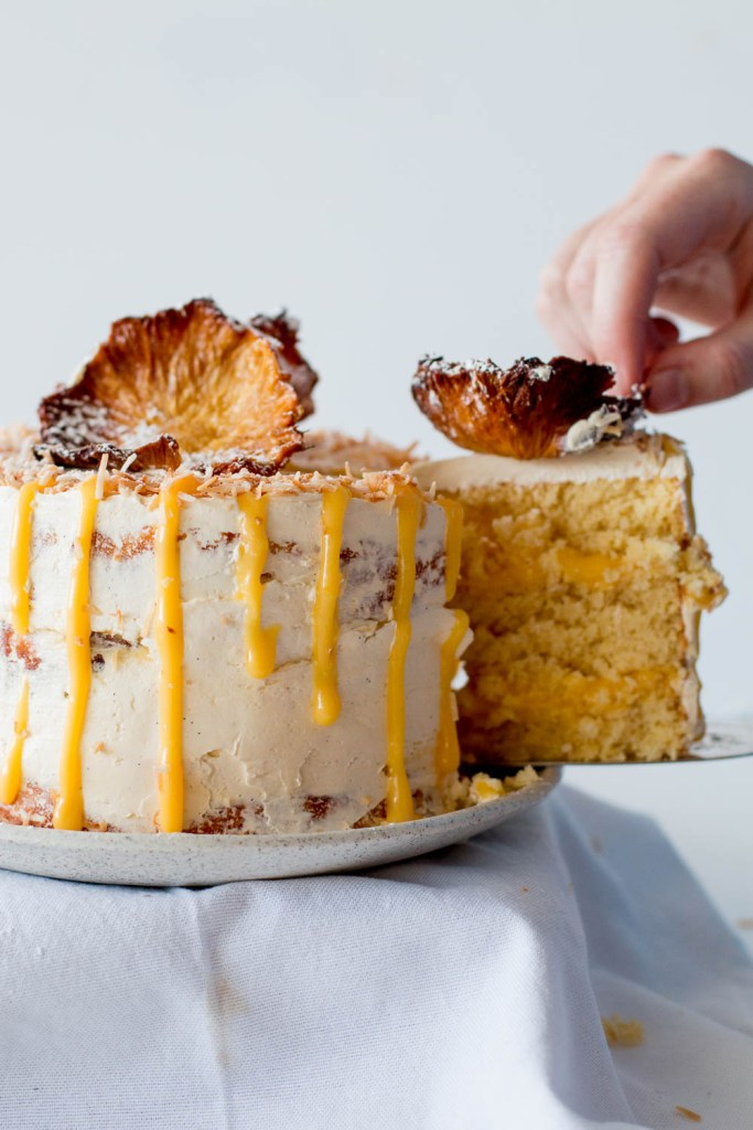 ... Free Pineapple Coconut Cake with Passionfruit Curd | The Brick Kitchen