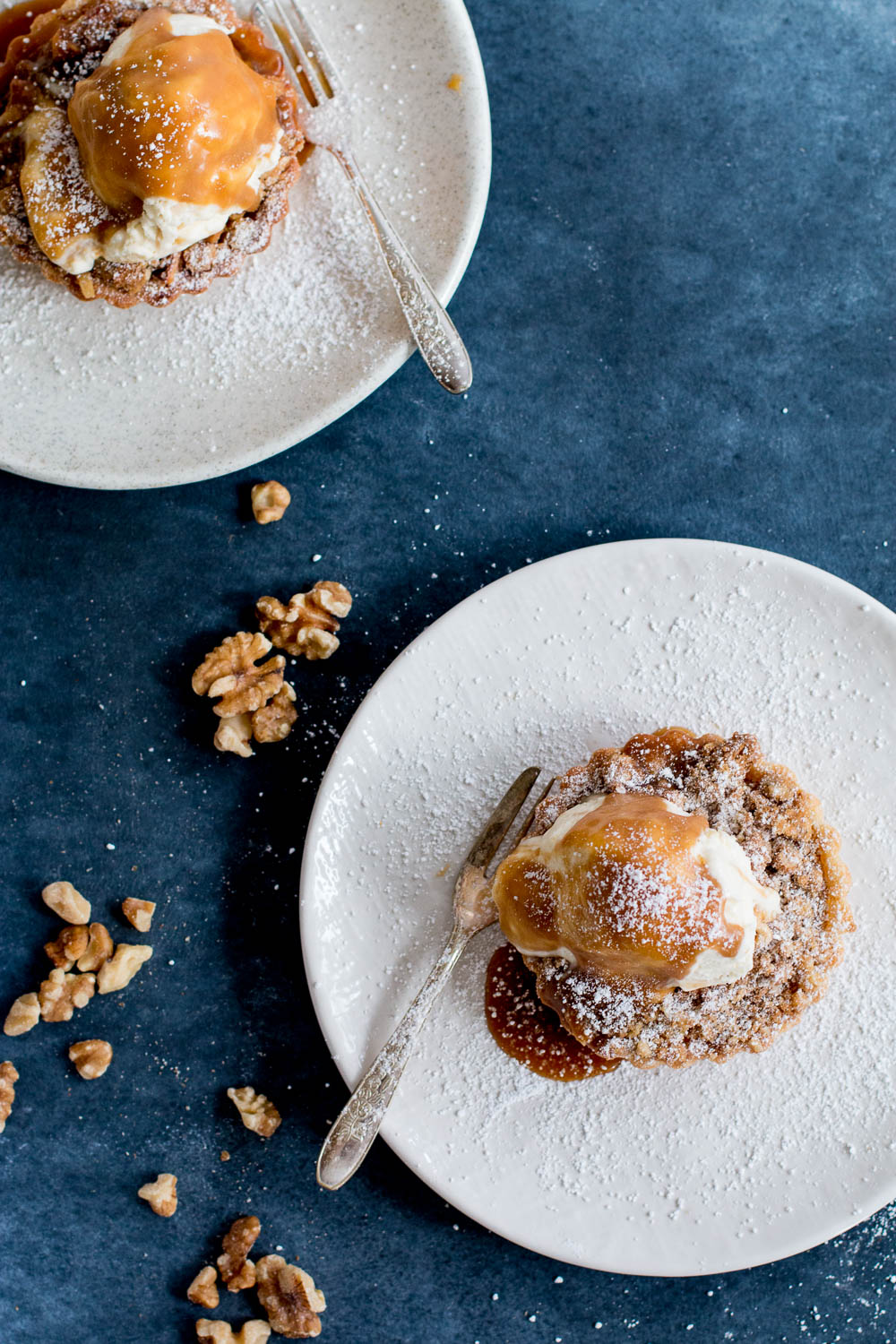 Apple & Walnut Crumble Tarts with Miso Butterscotch Ice Cream | The ...