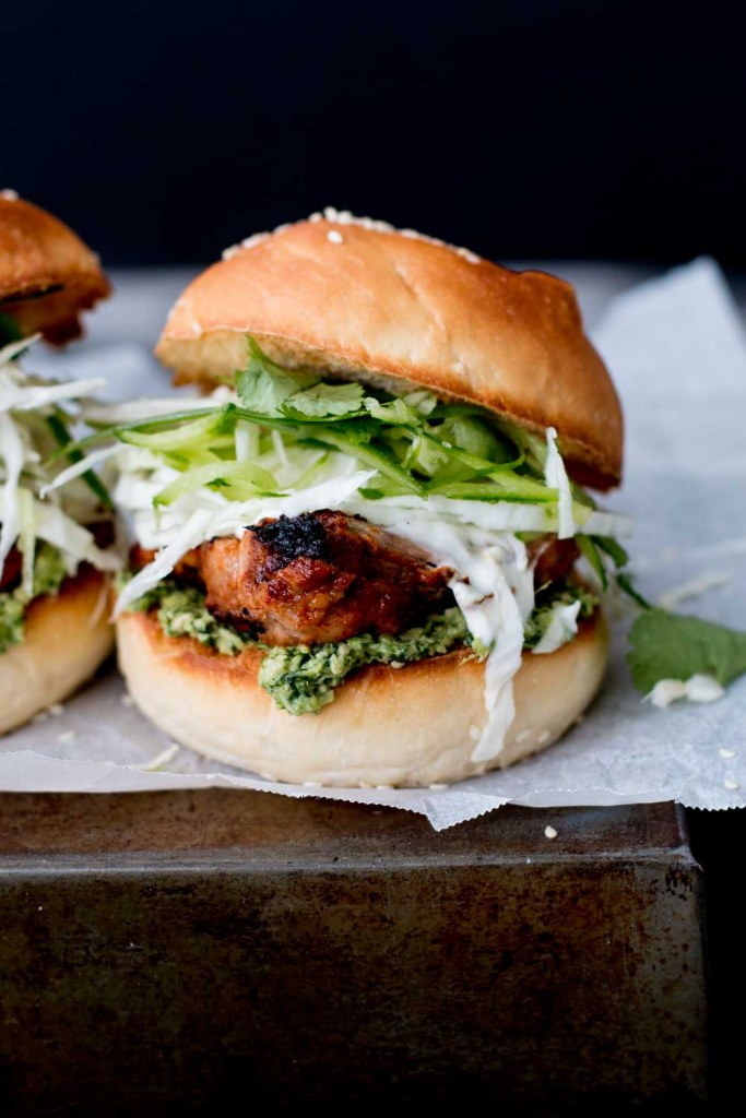 Tandoori Chicken Brioche Sliders with Coriander-Cashew Relish