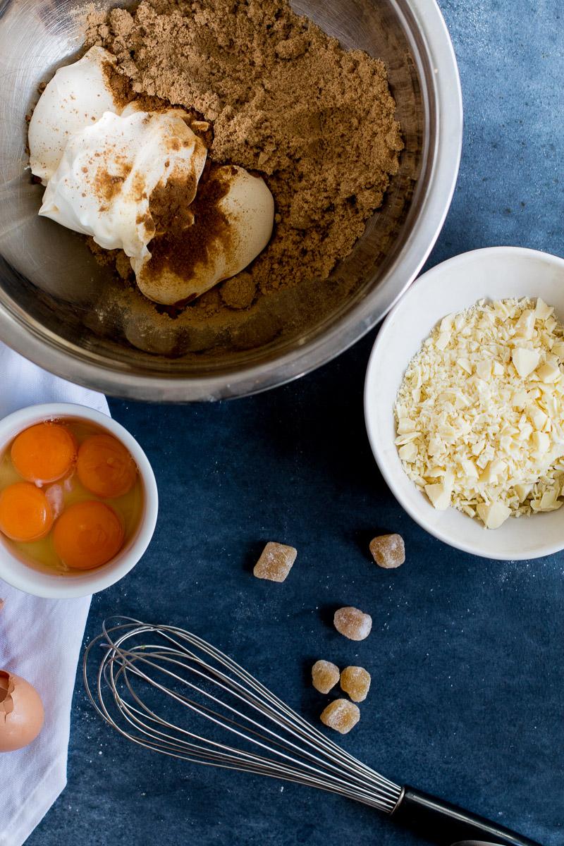 Carrot, Ginger & White Chocolate Tart with Whisky Ginger Ice Cream