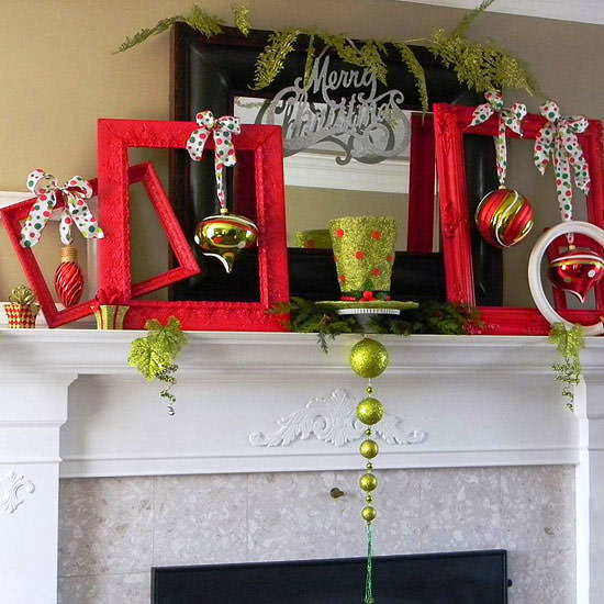 DIY Christmas Mantel Decorating Ideas u2022 The Budget Decorator - christmas mantel decor