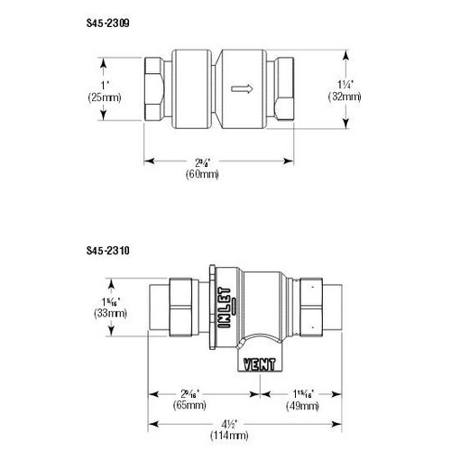 Bradley S45-2309 Backflow Preventer Prepack TheBuildersSupply