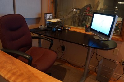 Client desk in control room