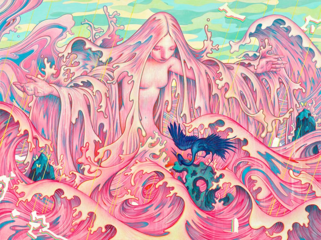 Pink Anime Wallpaper Gabrielle Alpin Miss You James Jean The Burning Ear