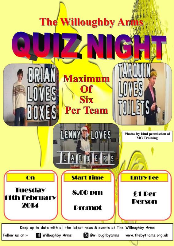 Pub quiz poster (11-02-2014)