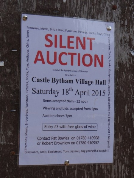 Silent Auction, Castle Bytham - 18th April 2015