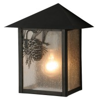 Pine Cone Slant Roof Wall Sconce