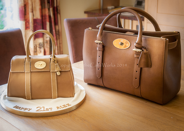 Mulberry style handbag birthday cake