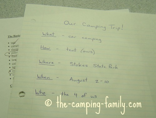 Planning A Family Camping Trip Seven Easy Steps