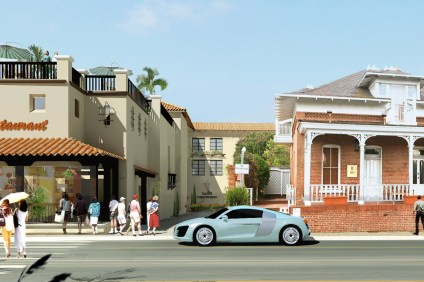 A final rendering of Urban Village's San Juan Hotel & Villas project, which had its approval repealed by the City Council in January 2015. Courtesy of Urban Village