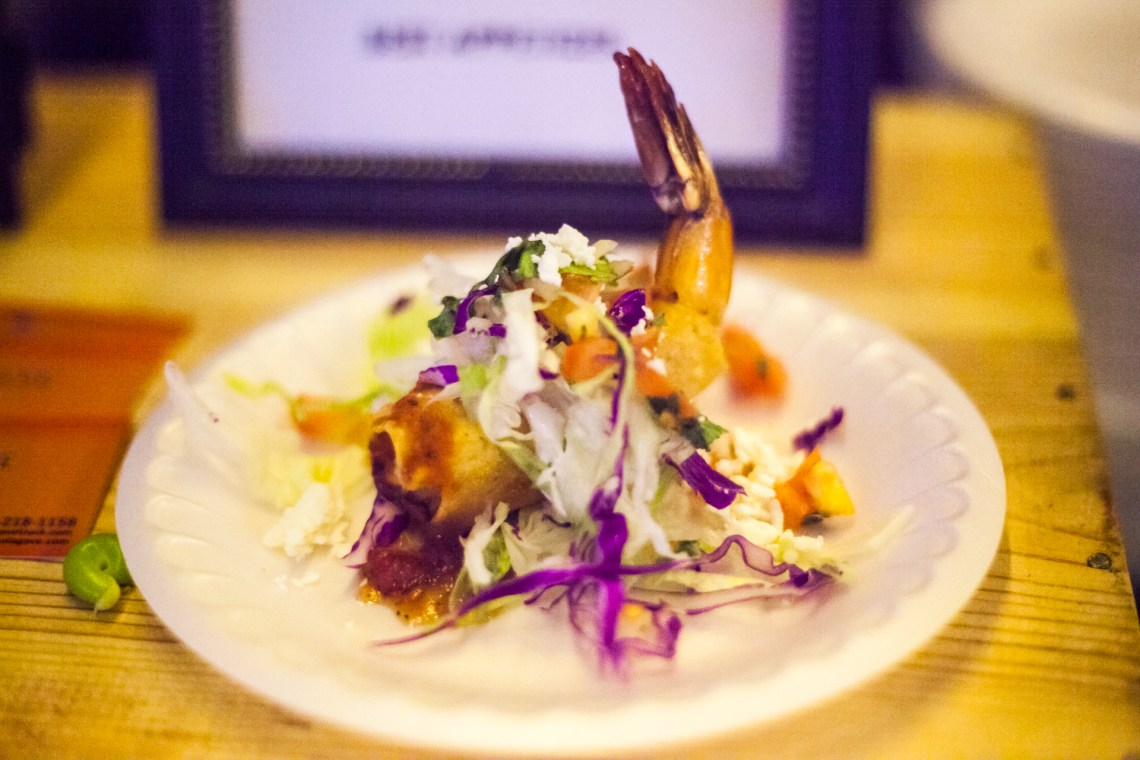 Sol Agave also served shrimp taquitos stuffed with Dungeness crab and epazote filling with cream cheese. Photo: Alex Paris