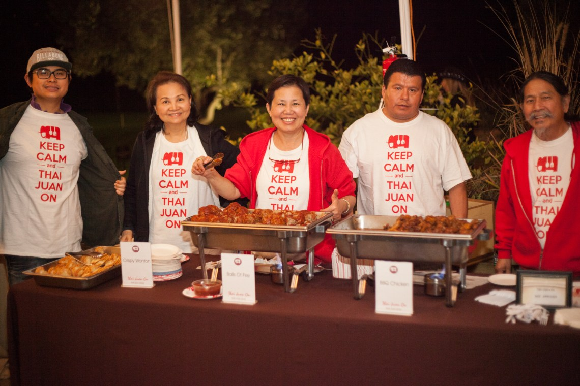 "Thai Juan On served up crispy wontons, ""Balls of Fire"" and BBQ chicken at the Taste of San Juan. Photo: Alex Paris"