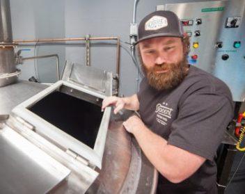 Docent's Head Brewer Bryan Giesen. Photo: Allison Jarrell