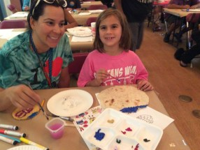 Families participate in a tortilla art activity at the San Juan Capistrano library. Photo: Courtesy of Ericka Reeb