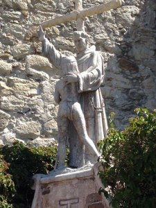 The Serra statue at Mission San Juan Capistrano. Photo: Jan Siegel