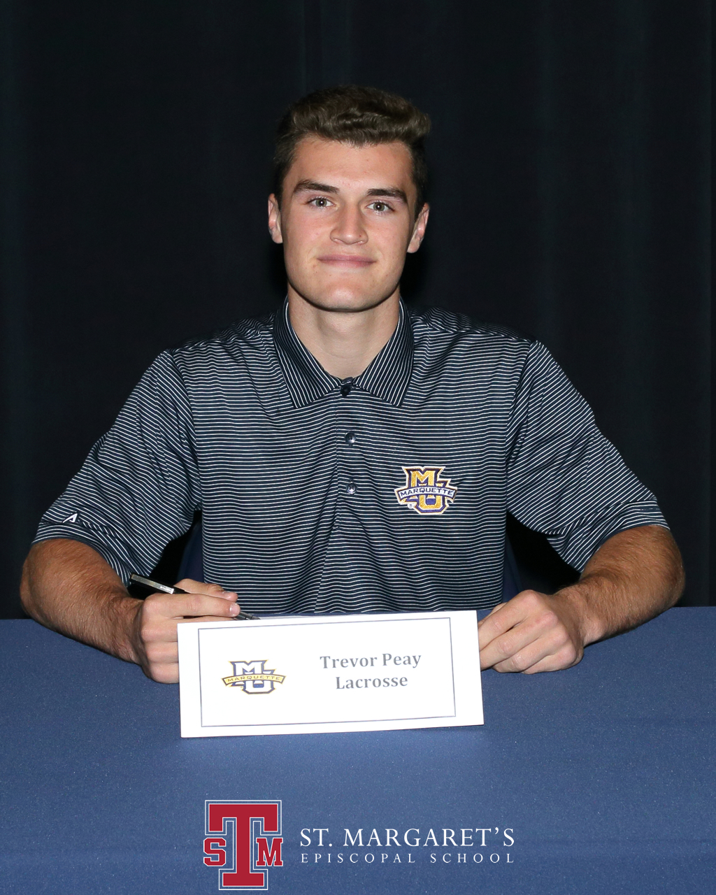 Trevor Peay signed to play lacrosse for Marquette University. Photo: Courtesy