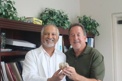 Peter DeSilva, a family physician, and Steve Smith, a master pump engineer, are working on a fully artificial heart that they hope patients can live with. Photo: Alex Groves