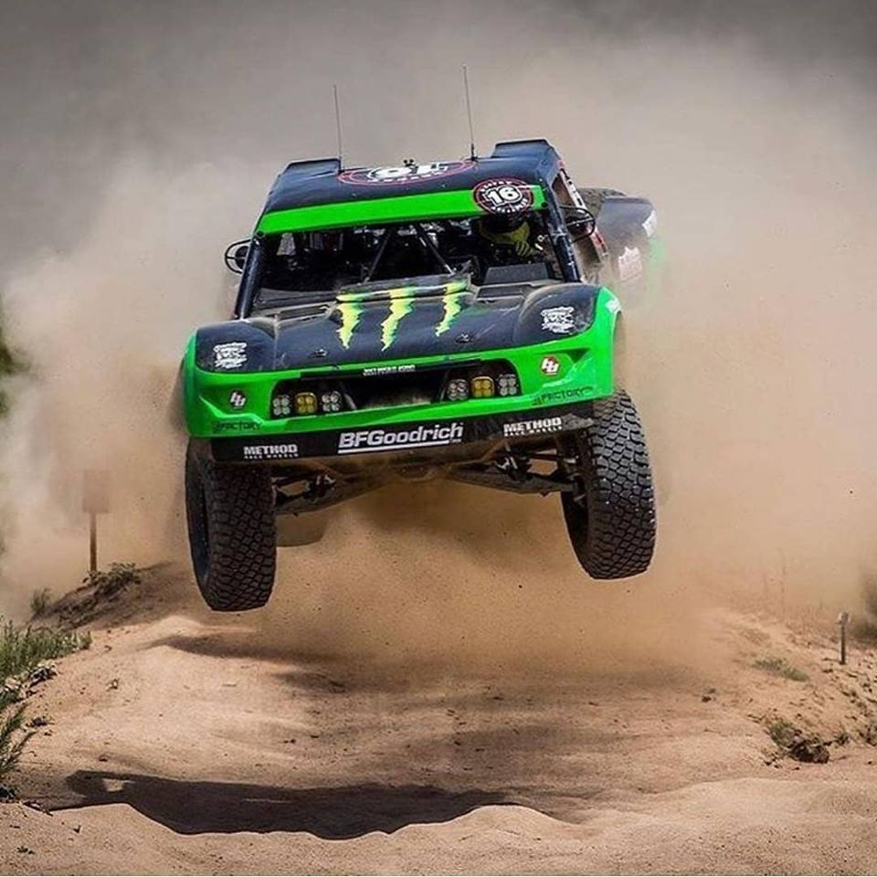 Cameron Steele's Monster Energy Desert Assassins Ford Raptor built by Geiser Bros. launches on the course of the Baja 1000 last week in Mexico. Photo Courtesy of Baja HQ
