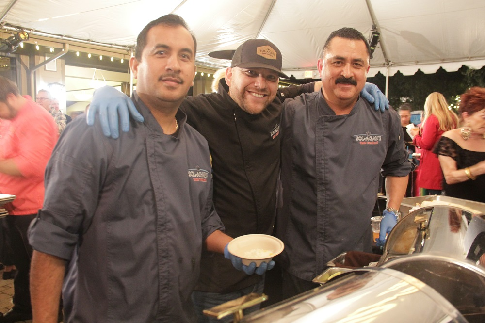 (Left to right) Eddie Rivera, Jesse Galvez, Alfonso Ganbo represent the Sol Agave booth at the Taste of San Juan on Thursday, Jan. 31. Photo: Shawn Raymundo