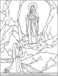 Coloring Picture Of Our Lady Of Lourdes Our Lady Of Lourdes