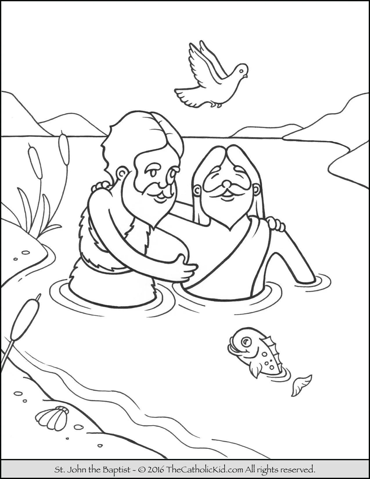 John The Baptist Jordan River Coloring Page Cartoon Download