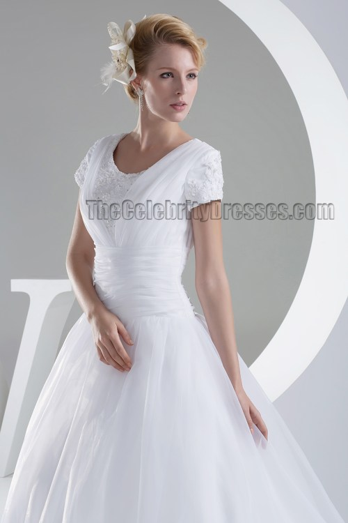 Medium Of Organza Bridal Gown