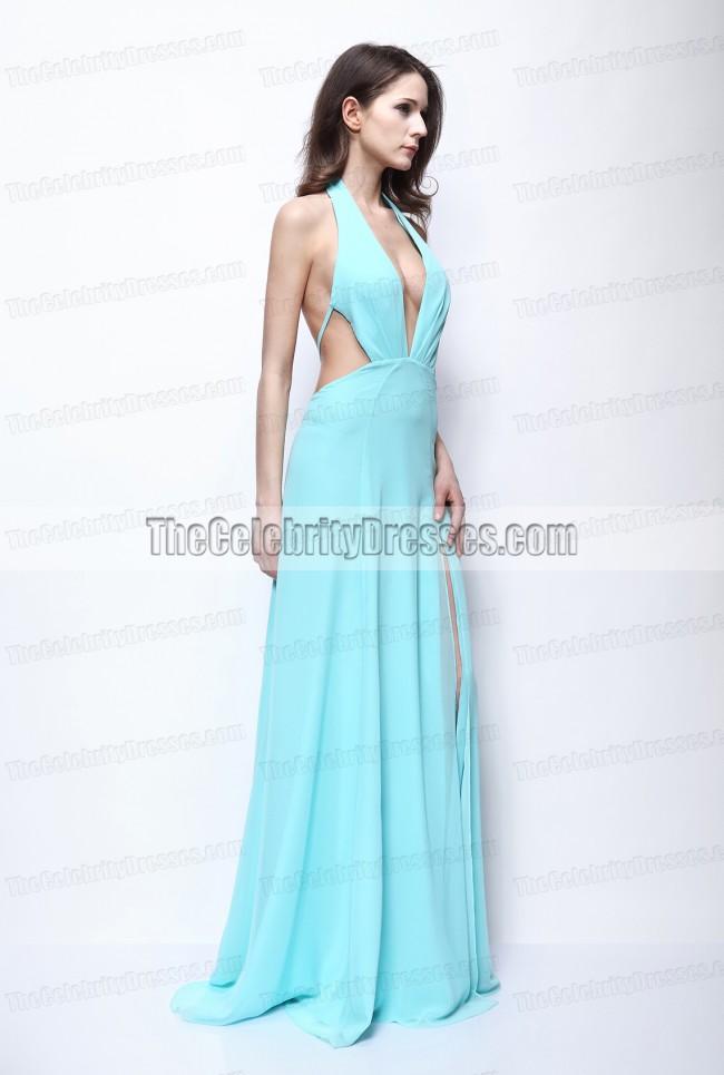 Kimberley Garner Sexy Backless Prom Dress \u0027The Dark Knight Rises