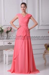 Burgundy V-Neck A-Line Prom Dress Evening Gowns ...